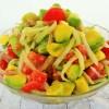 Cucumber tomatoes avocado salad