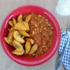 Red red (fried plantains and beans)