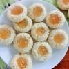 Pineapple coconut thumbprint cookies